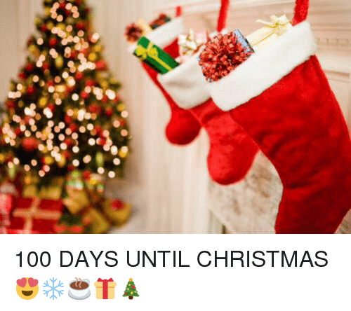 100 days till christmas
