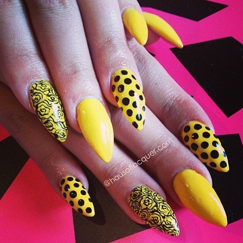 Yellow Polka Dot Nail Designs Pictures Photos And Images For