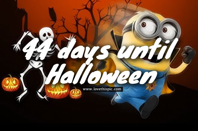collection of how many days left till halloween costumes