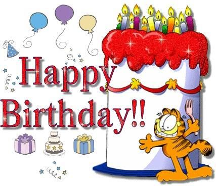 happy birthday garfield Garfield Happy Birthday Cake Image Pictures, Photos, and Images  happy birthday garfield