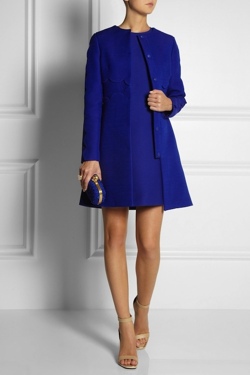 Classic Royal Blue Coat And Dress Set Pictures, Photos, and Images ...