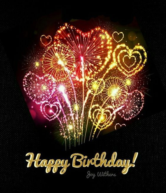Heart Firework Happy Birthday Quote Pictures, Photos, And