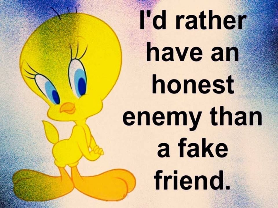 I'd Rather Have An Honest Enemy Than A Fake Friend ...
