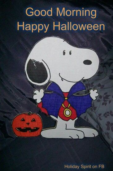 Snoopy Dracula - Good Morning Happy Halloween Pictures