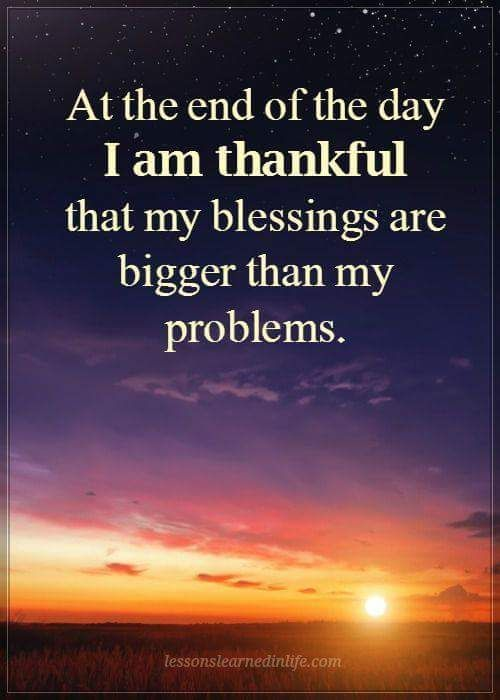 I Am Thankful That My Blessings Are Bigger Than My