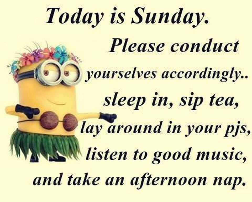 Today Is Sunday Minion Quote Pictures, Photos, And Images