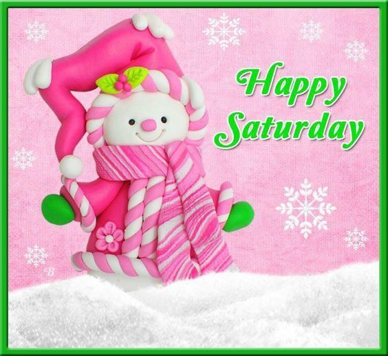 Cute Happy Saturday Snowgirl Quote Pictures, Photos, and