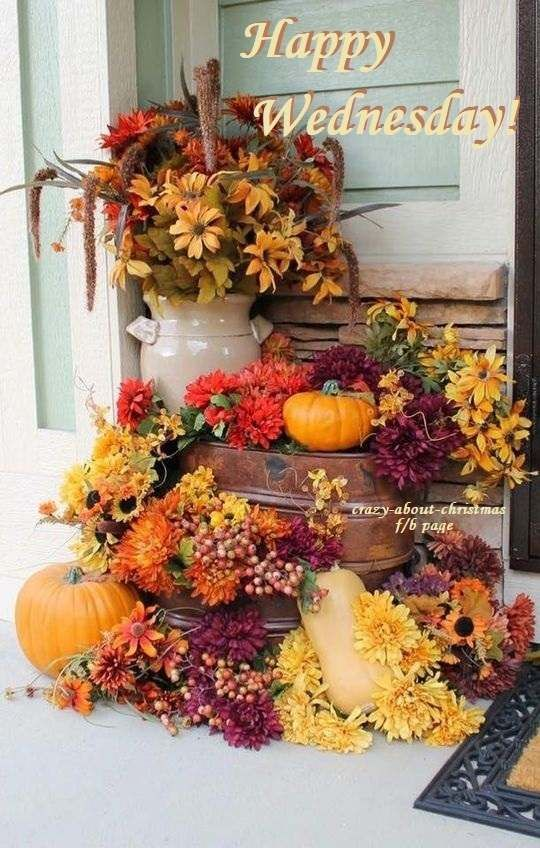Fall Decor Happy Wednesday Quote Pictures, Photos, and Images for Facebook,  Tumblr, Pinterest, and Twitter
