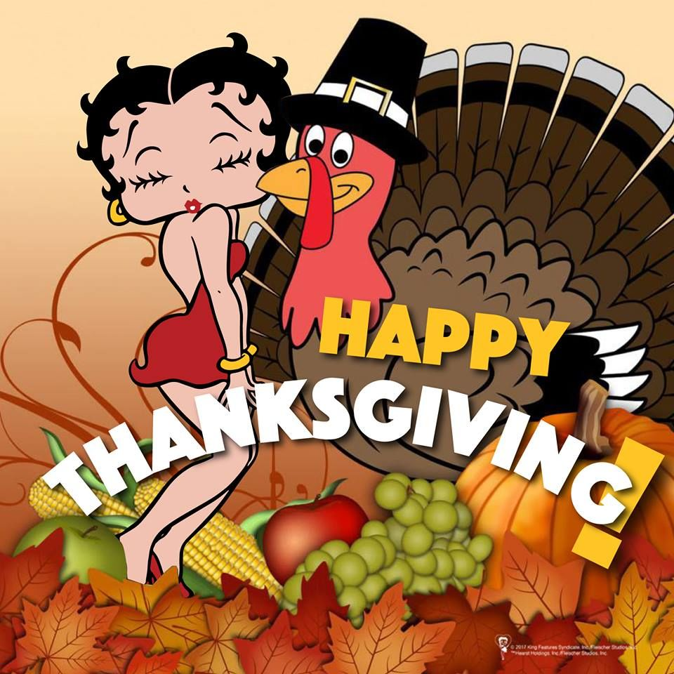 Betty Boop Turkey Happy Thanksgiving Quote Pictures