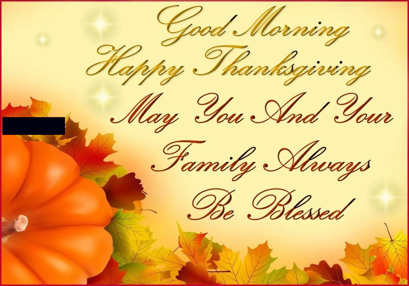 family good morning happy thanksgiving quote