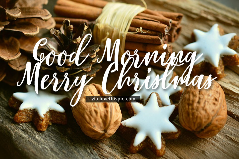 Cinnamon Stick Good Morning Merry Christmas Quote Pictures