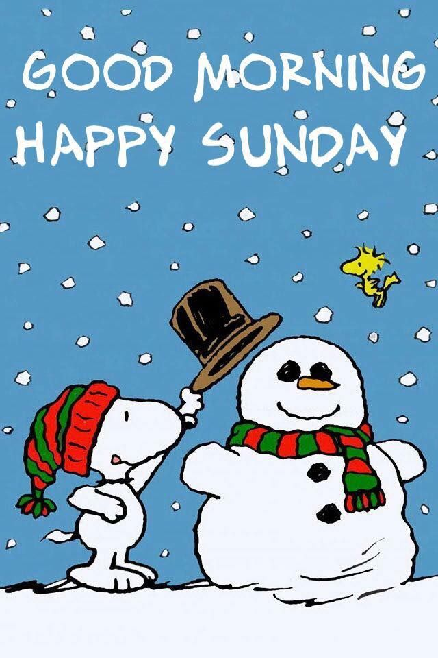 Snoopy Snowman Good Morning Sunday Quote Pictures, Photos