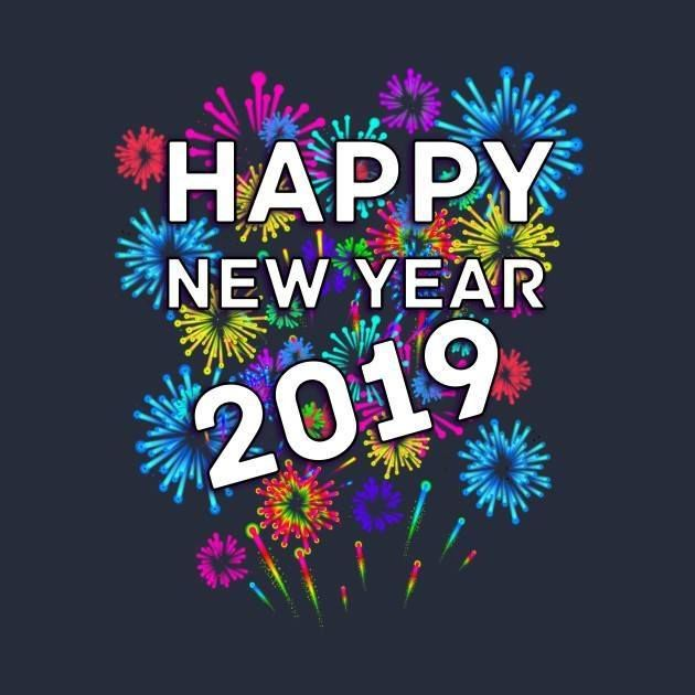 New Years Day Quotes 2019: Colorful Fireworks Happy New Year 2019 Quote Pictures