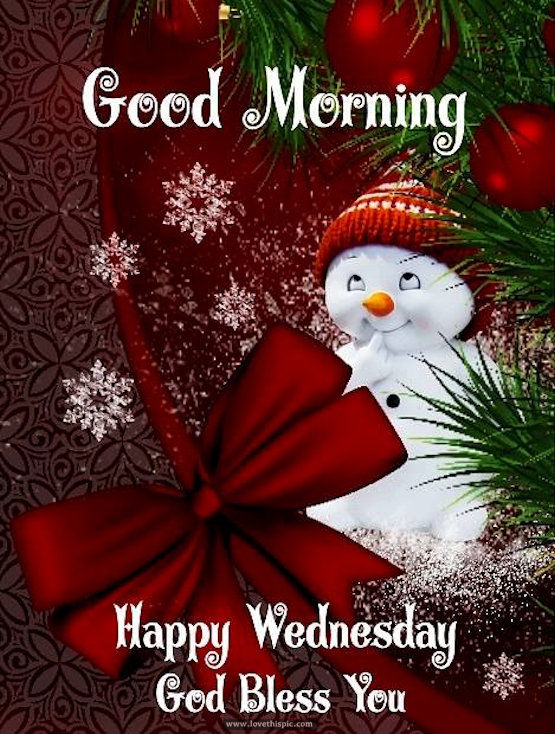 Good Morning Happy Wednesday God Bless Winter Image Quote