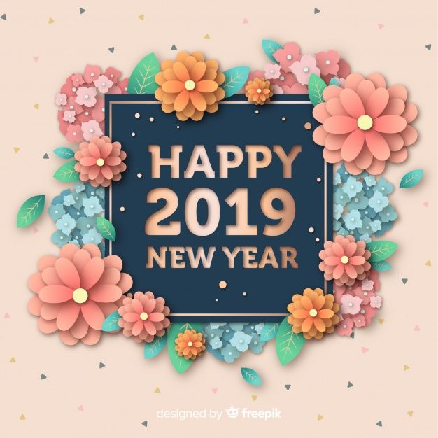 Floral Happy New Year 2019 Quote Pictures, Photos, And
