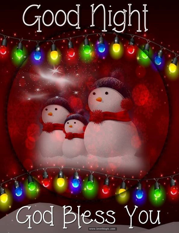Christmastime Goodnight God Bless You Quote Pictures, Photos