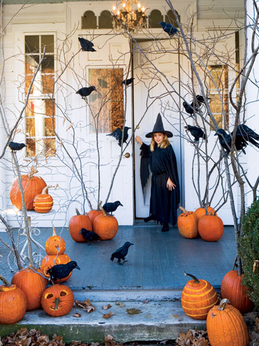 Halloween porch decorations pictures photos and images for Pinterest halloween outdoor decorations