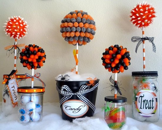 Halloween candy topiary pictures photos and images for