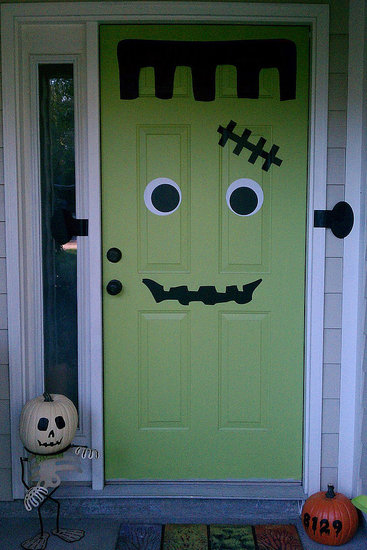 Frankendoor Halloween Decal Pictures Photos And Images