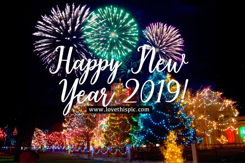 Christmas Lights Happy New Year 2019 Image Pictures ...