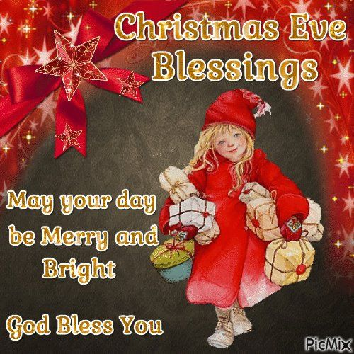 Christmas Eve Quotes Tumblr: Girl Holding Gift Christmas Eve Blessings Pictures, Photos