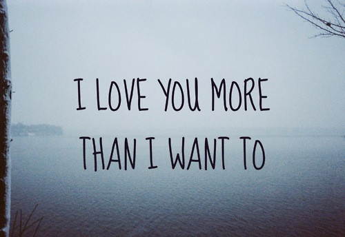 I Love You More Quotes Tumblr : love it i love you more than i want to