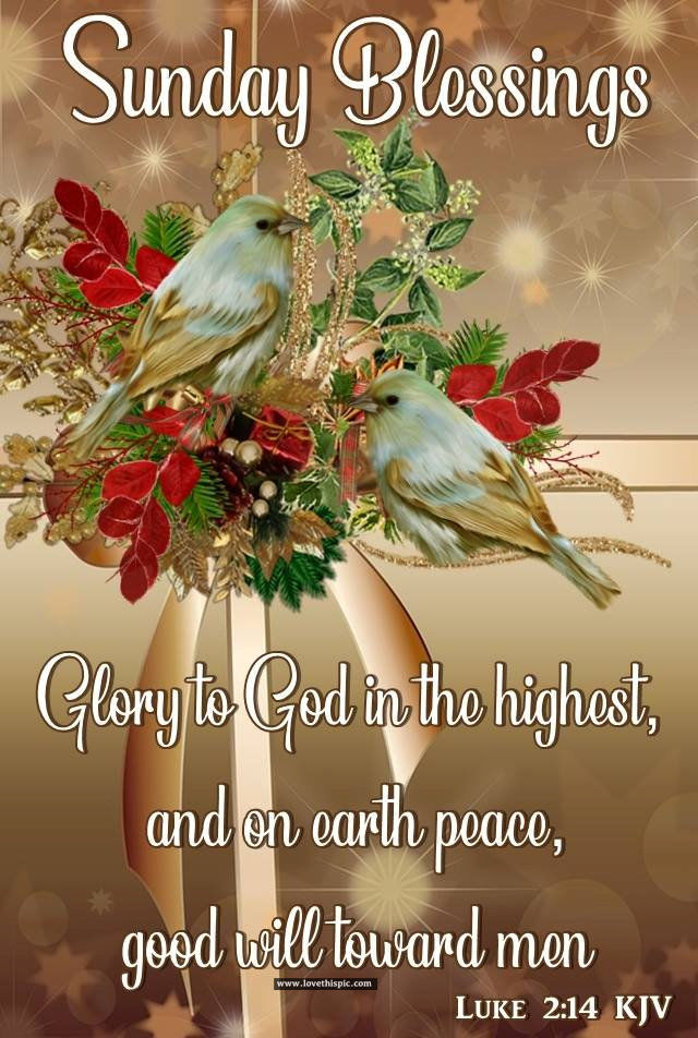 Sunday Blessings Glory To God Pictures, Photos, and Images