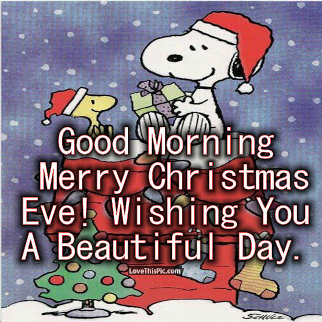 Snoopy Good Morning Christmas Eve Quote Pictures, Photos