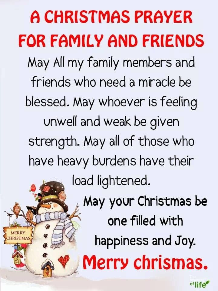 A Christmas Prayer.A Christmas Prayer For Family And Friends Pictures Photos
