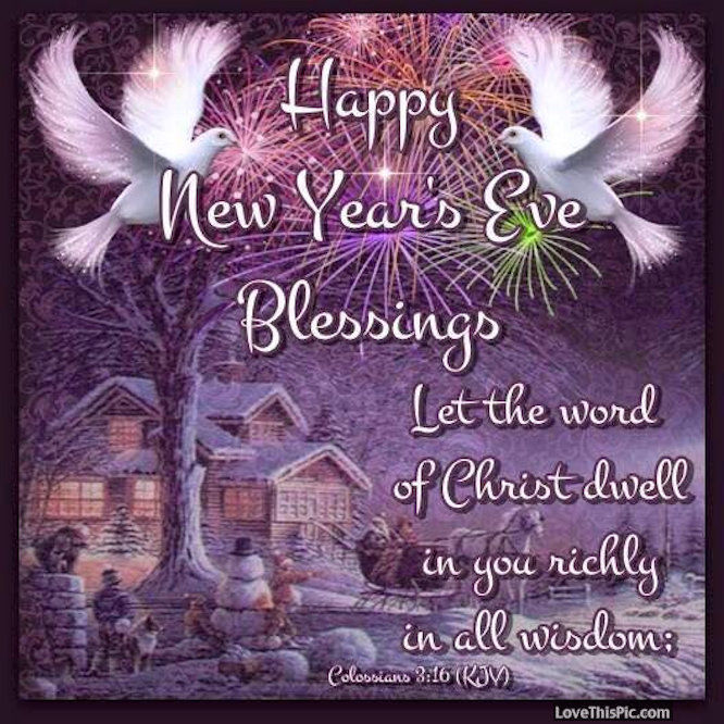 Happy New Years Eve Quote: Happy New Year's Eve Blessings Quote With Prayer Pictures