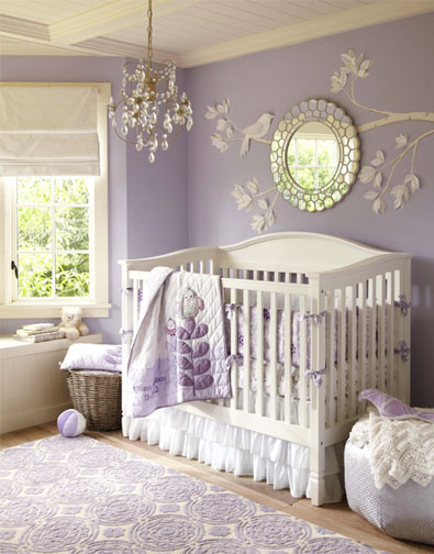 classically styled lavender baby room pictures photos