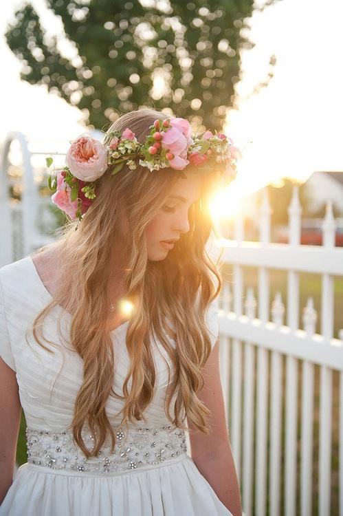 Flower crown tumblr girl - photo#4