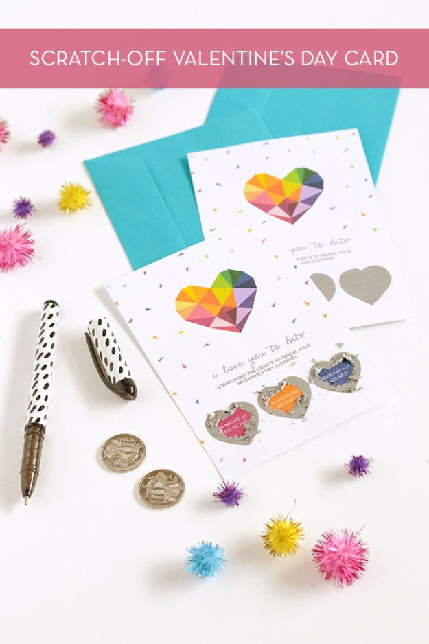 diy scratch off valentine's card pictures photos and