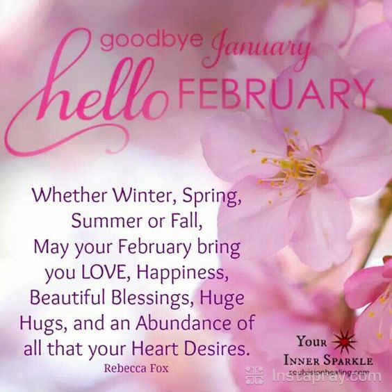 Prayer To Say Goodbye January And Hello February Pictures