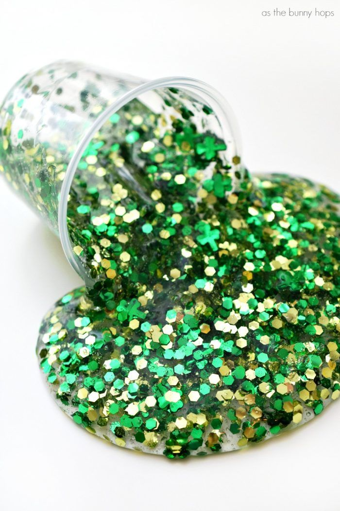 Glitter Slime For St Patrick's Day Pictures, Photos, and Images for