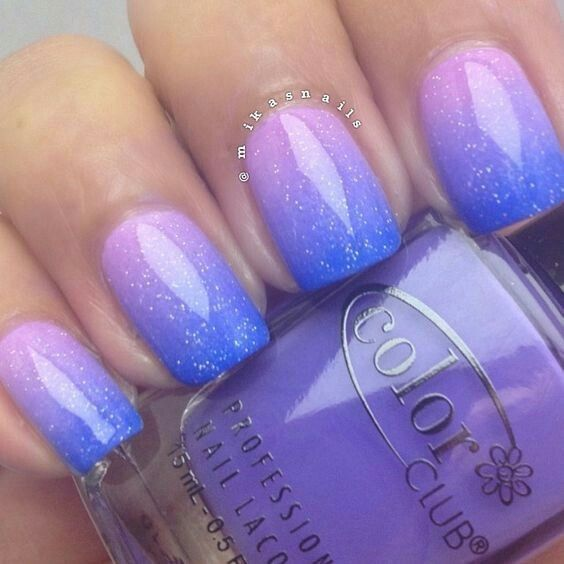 Blue Lavender Ombre Nails Pictures, Photos, and Images for