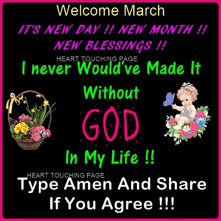New Day New Month New Blessings Welcome March Pictures
