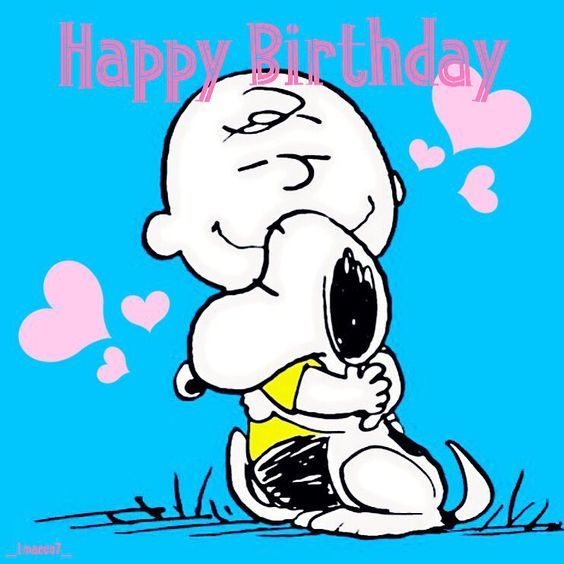 Charlie Brown & Snoopy Birthday Hug Pictures, Photos, And