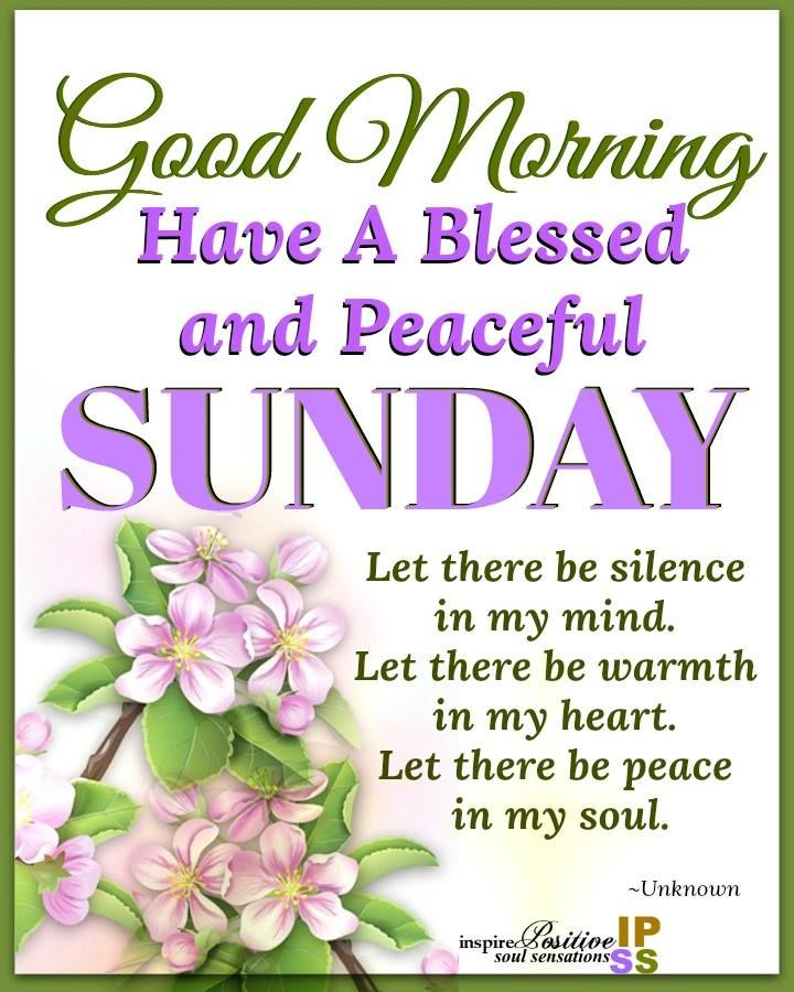 Inspiring Good Morning Peaceful Sunday Image Pictures Photos And