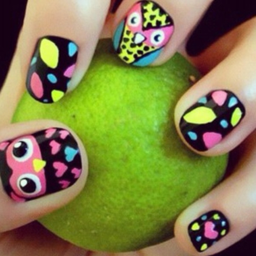 Cute owl nail design - Cute Owl Nail Design Pictures, Photos, And Images For Facebook