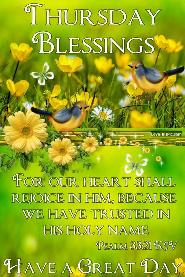 Thursday Blessings For Our Heart Shall Rejoice Pictures