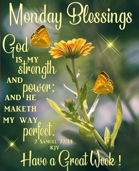 God Is My Strength - Monday Blessings Pictures, Photos
