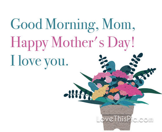 Good Morning Mom, I Love You! Pictures, Photos, and Images