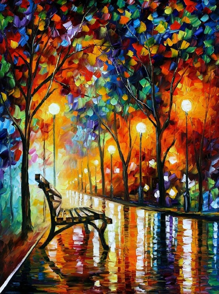 Autumn abstract painting pictures photos and images for for Pretty abstract paintings