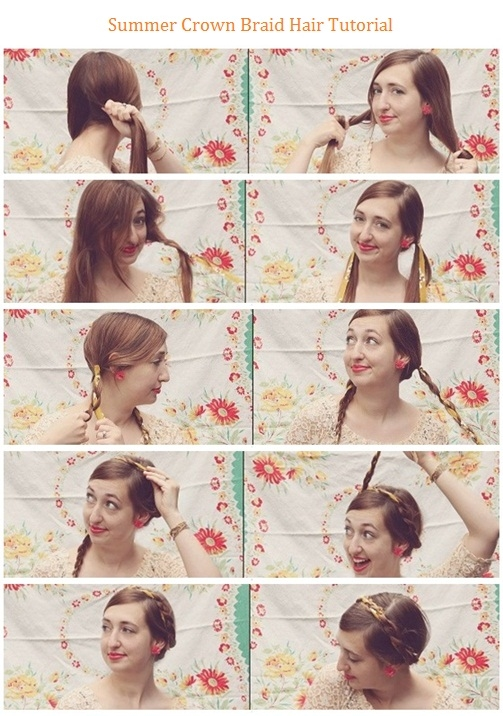 Diy summer crown braid pictures photos and images for facebook diy summer crown braid solutioingenieria Image collections