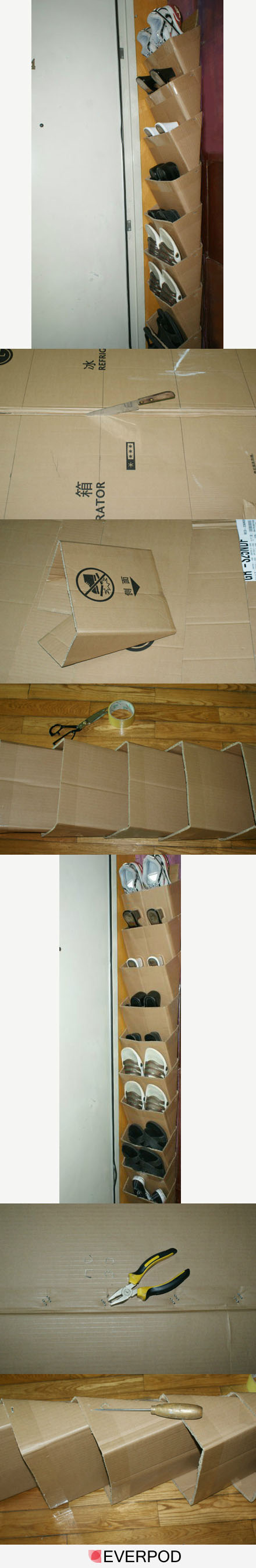 Diy shoe organizer pictures photos and images for for Diy shoe storage with cardboard