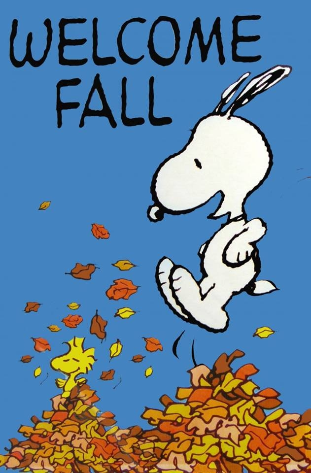 Delightful Snoopy Welcomes Fall
