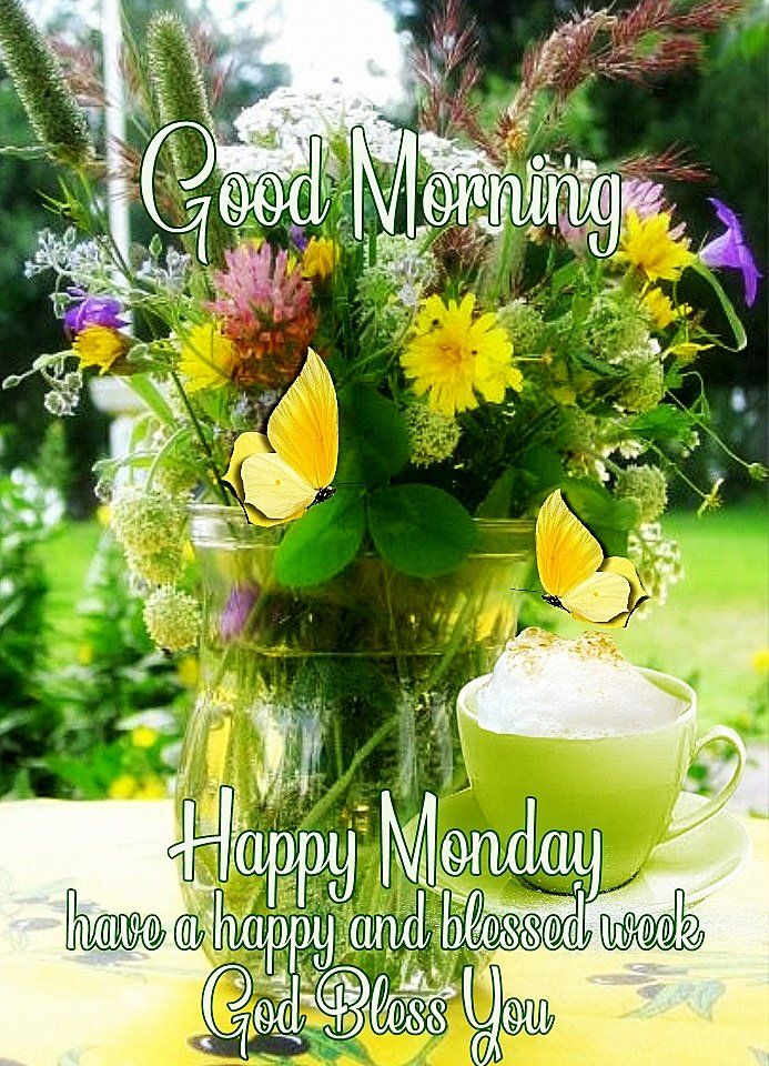 Good Morning Happy Monday Have A God Blessed Week Pictures ...