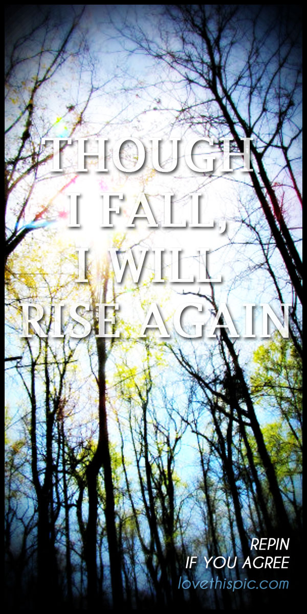 Inspiring Quotes For Friends I Will Rise Again Pict...