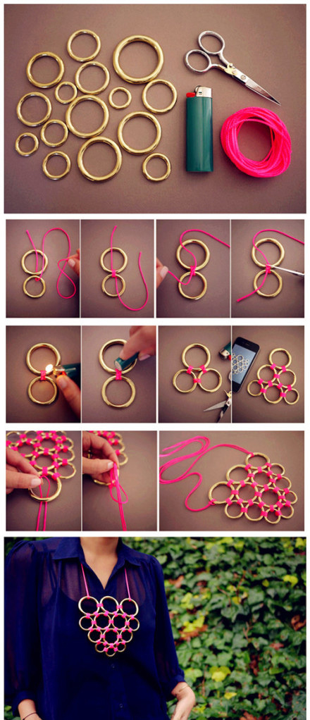 diy craft necklace crafts projects easy crafty jewelry